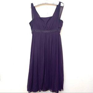 Jessica Howard Purple Empire Waist Dress Sz 8